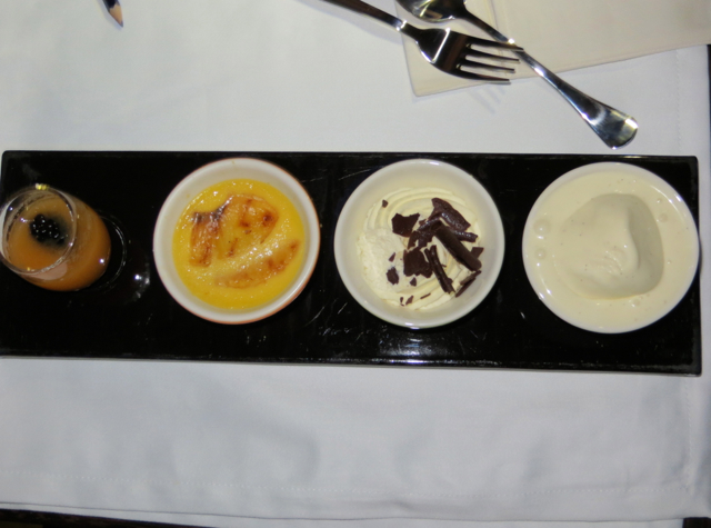 Etihad First Class - Quattro of Desserts