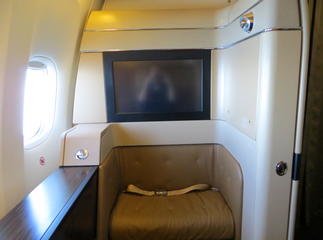 Etihad First Class Review - Seat 1A Ottoman