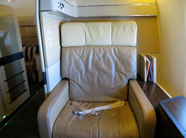 Etihad First Class Review - Seat 1A