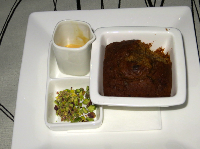 Etihad First Class Review - Sticky Date and Toffee Pudding