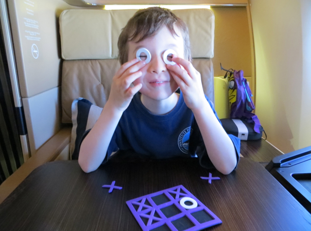 Etihad First Class Review - Kids Welcome Amenity Tic Tac Toe