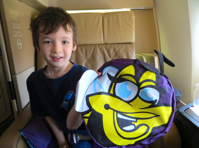 Etihad First Class Review - Kids' Welcome Amenity Backpack