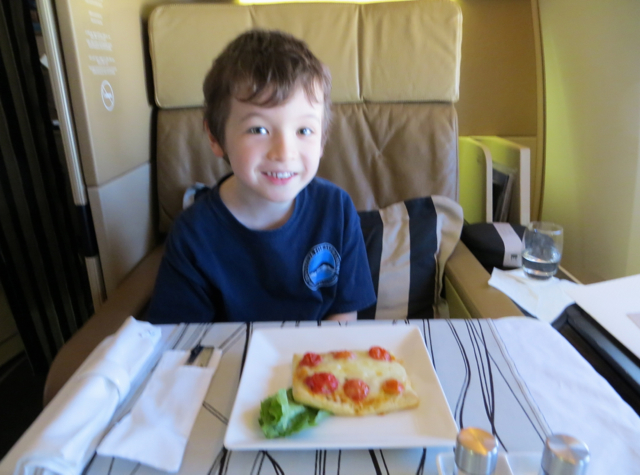 Etihad First Class Review - Pizza