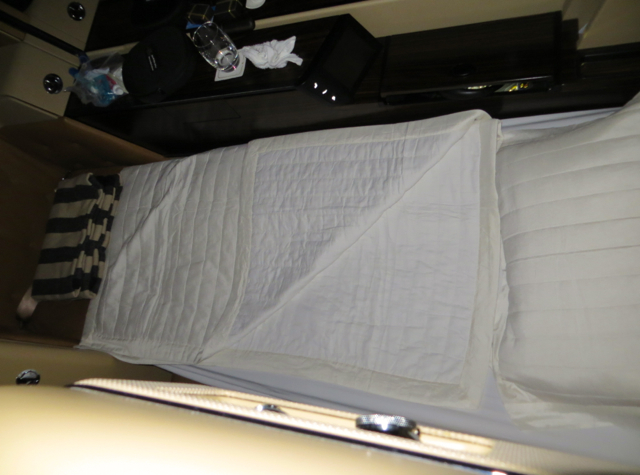 Etihad First Class Review - Bed After Turn Down Service