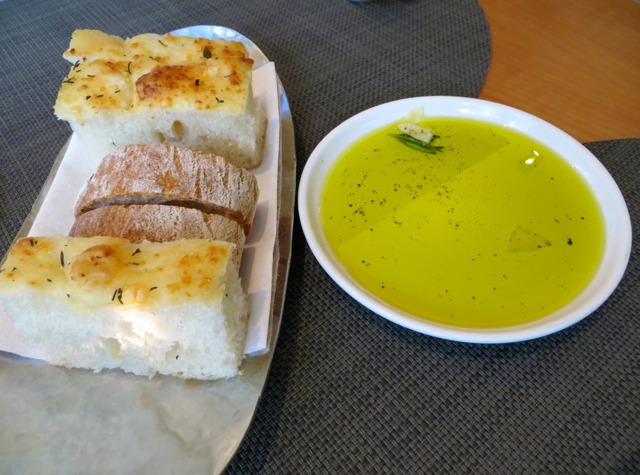 Boulud Sud NYC Restaurant Review - Focaccia and Olive Oil