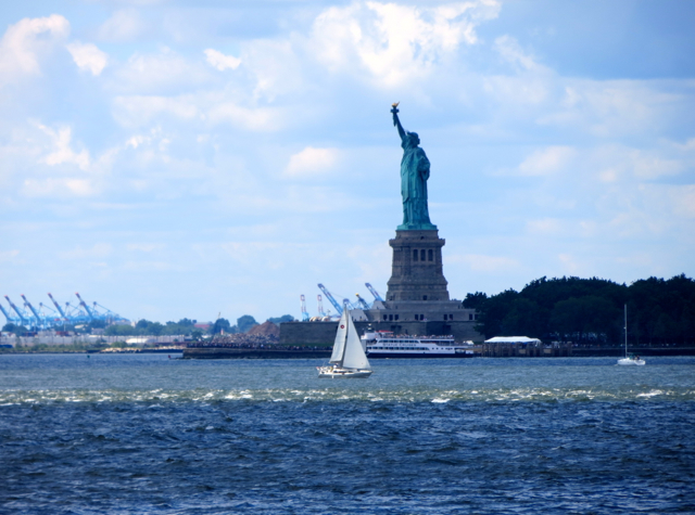 Governors Island Ferry - View of Statue of Liberty