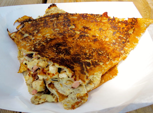 Governors Island - Fete Paradiso - Buckwheat Crepe with Chicken, Ham Swiss Cheese
