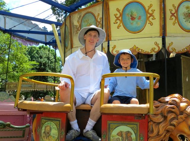 Governors Island - Fete Paradiso - Enjoying a Vintage Carousel Ride