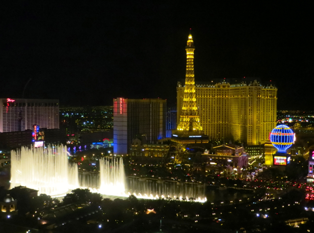 Bellagio Las Vegas Hotel Review: Virtuoso Benefits and Hyatt Points - View of Bellagio Fountain and Eiffel Tower