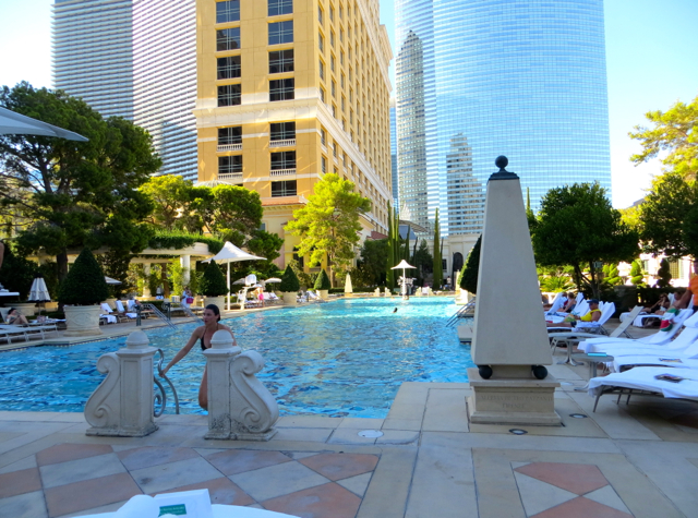 Bellagio Las Vegas Hotel Review-Virtuoso Benefits and Hyatt Points - Lap Pool