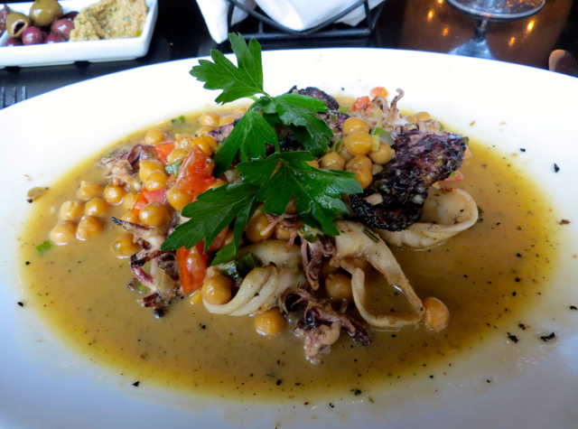Todd English's Olives Las Vegas Restaurant Review - Grilled Squid and Octopus