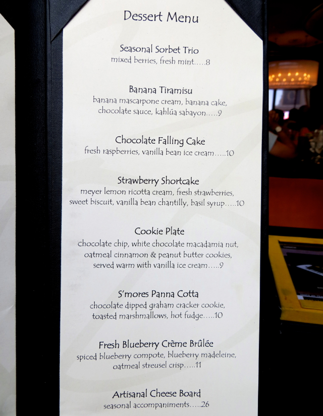 Todd English's Olives Menu-Desserts