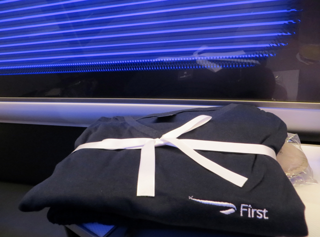 British Airways New First Class Review - Pajamas