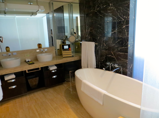 Mandarin Oriental Las Vegas Hotel Review - Strip View Bathroom
