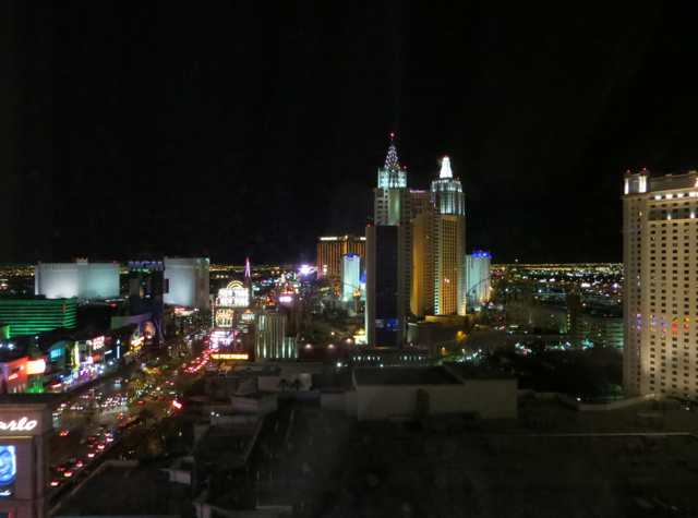Mandarin Oriental Las Vegas Review - Strip View at Night