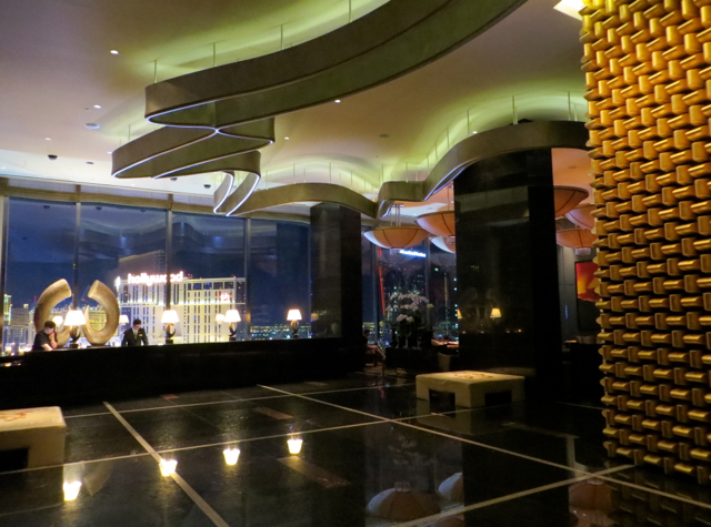 Mandarin Oriental Las Vegas Hotel Review - Lobby at Night