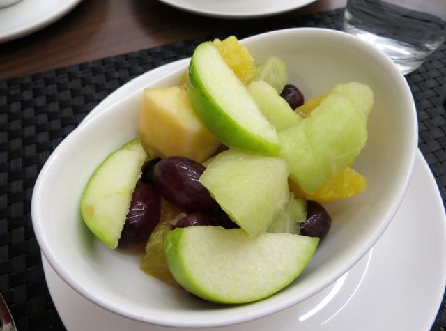 British Airways Galleries Arrivals Lounge London Concord Room Breakfast - Fruit Salad