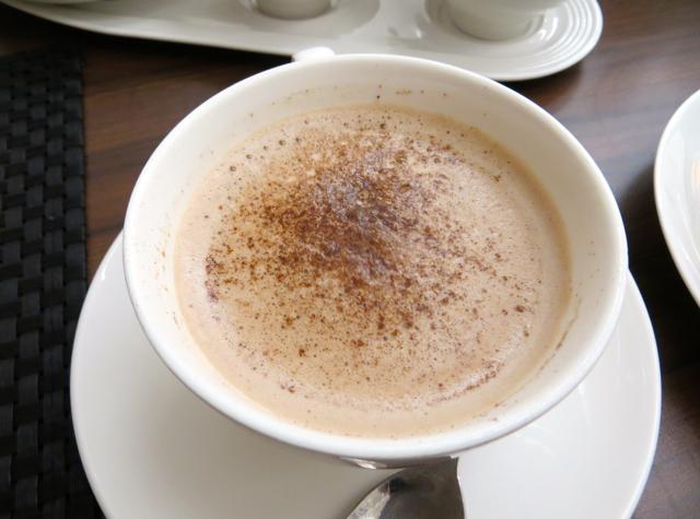 British Airways Galleries Arrivals Lounge - Concord Room Breakfast - Hot Chocolate