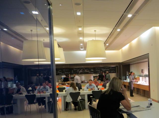 British Airways Galleries Arrivals Lounge Terminal 5 - Breakfast Buffet Seating