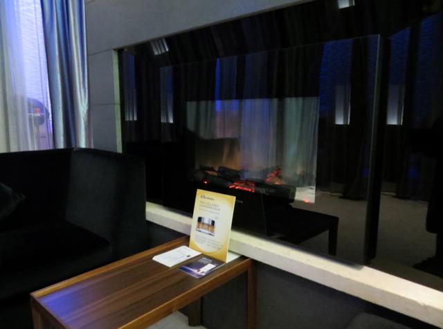British Airways Galleries Arrivals Lounge Elemis Spa Fireplace