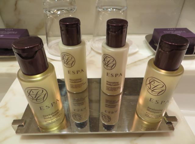 Corinthia Hotel London Review - ESPA bath amenities