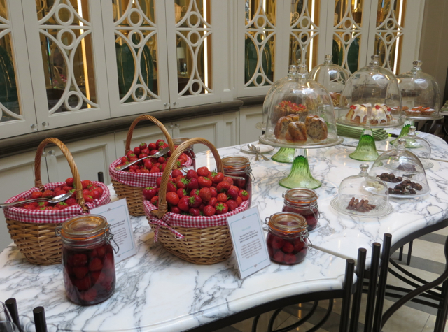 Corinthia Hotel London Review - Lobby Lounge Afternoon Tea with Fresh Strawberries