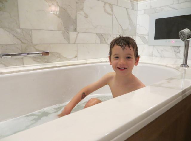 Corinthia Hotel London Review - Enjoying a Bath
