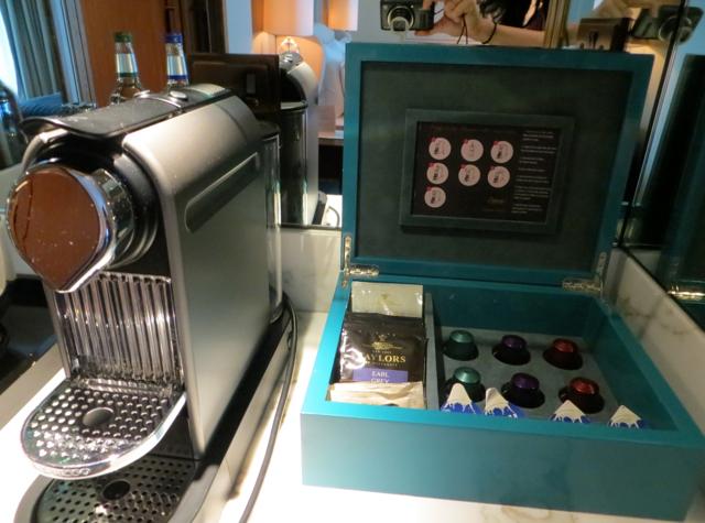 Corinthia Hotel London Review -Nespresso Machine
