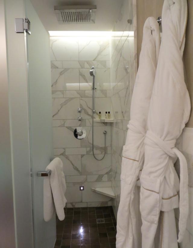 Corinthia Hotel London Review - Executive Bathroom Rain Shower