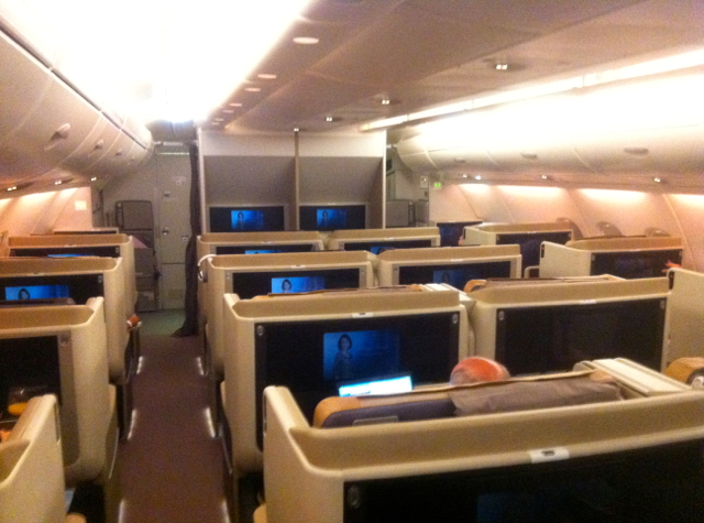 Singapore Business Class Review -Singapore Business Class Cabin
