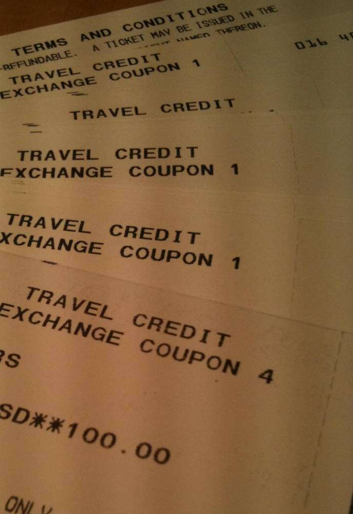 Travel Vouchers from bumps on United