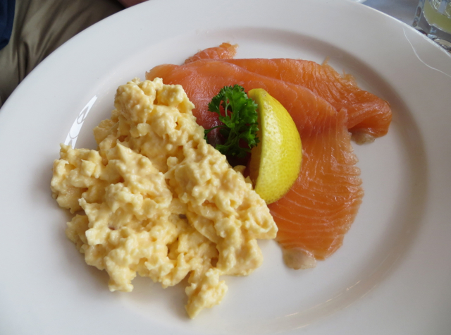 Dalhousie Castle Review Scotland - Scottish Smoked Salmon and Scrambled Eggs for Breakfast
