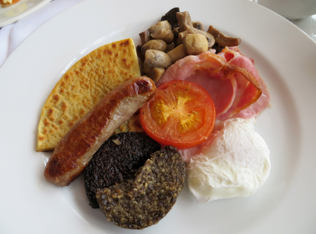Dalhousie Castle Review, Scotland - Traditional Scottish Breakfast in The Orangery
