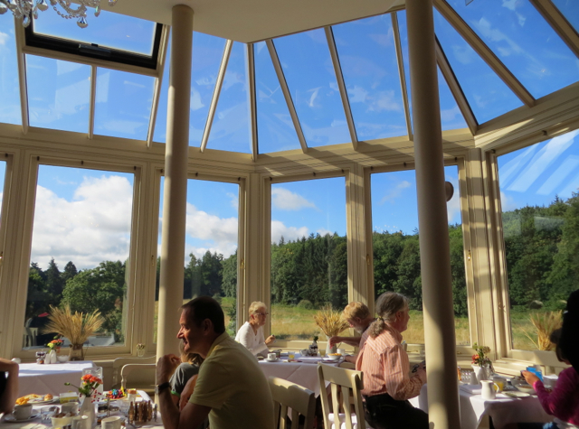 Dalhousie Castle Review - The Orangery Restaurant