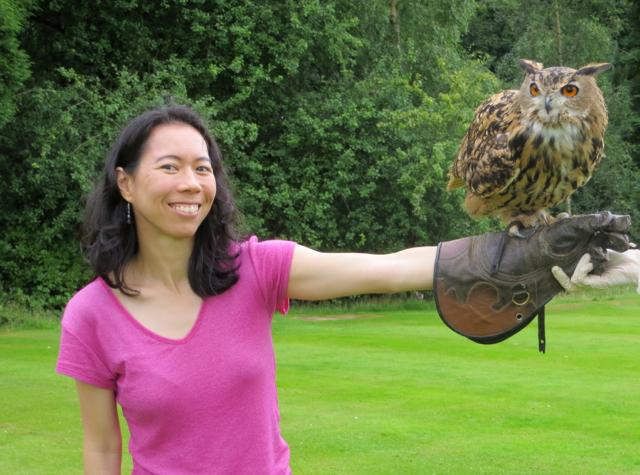 Dalhousie Castle Falconry - With a Tawny Owl