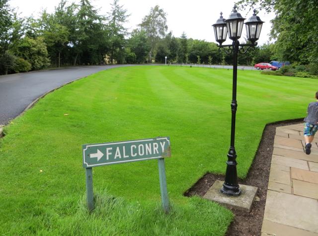 Dalhousie Castle Falconry - Sign to Falconry Mews