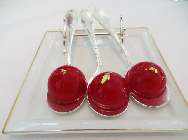 Epicure at Le Bristol Paris Restaurant Review - Liquid Strawberry Bonbons