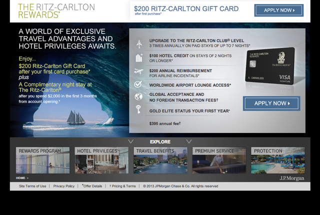 Ritz-Carlton Rewards Card: 70,000 Points and $200 Gift Card Worth It?