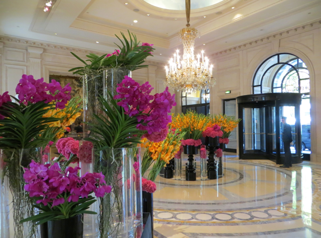 Four Seasons Paris Review - Stunning Flowers by Jeff Leatham in Lobby
