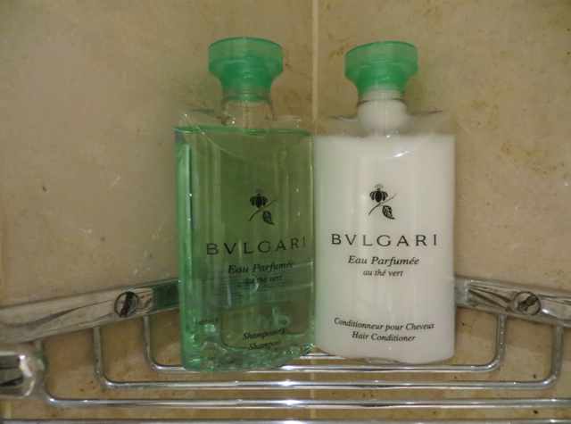 Four Seasons Paris Review - Bulgari Green Tea Shampoo and Conditioner