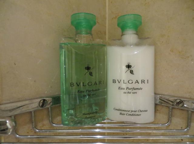 Four Seasons Paris Review - Bulgari Green Tea Shampoo and Conditioner