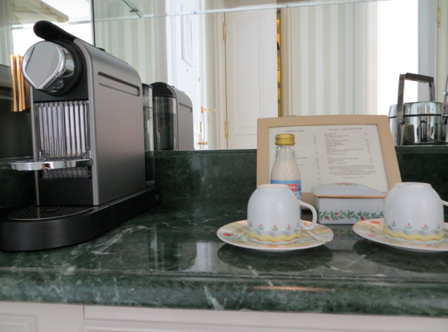 Four Seasons Paris Review - In-Room Nespresso Machine