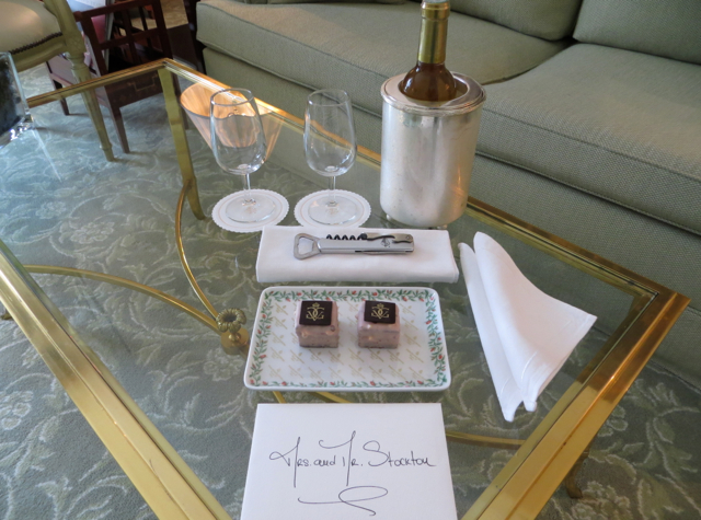Four Seasons Paris Review - Welcome Sweets and Sauternes