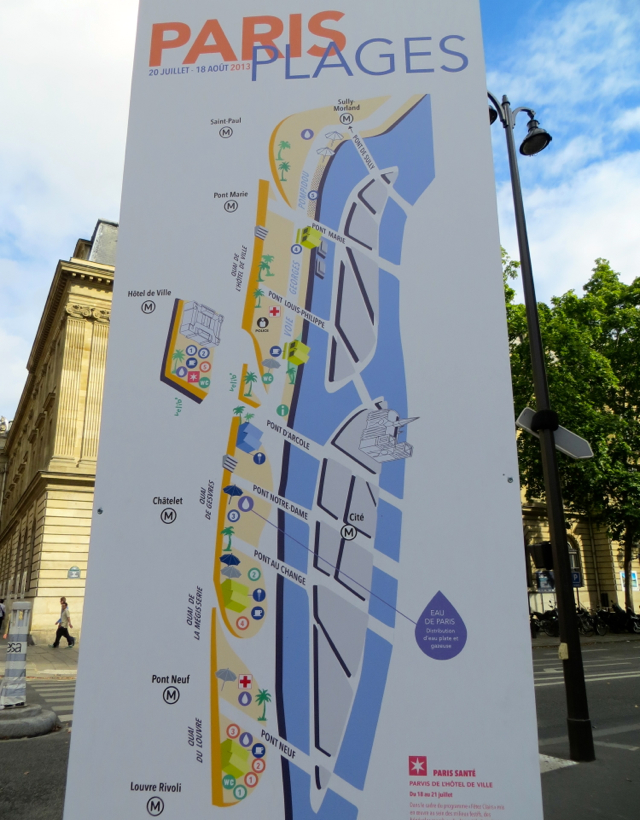 Paris Plages-Paris Beaches Map