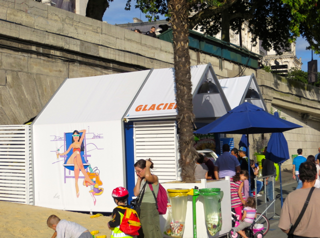 Paris Plages-Paris Beaches - Glacier Ice Cream Stand