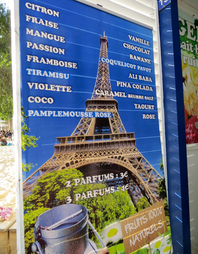 Paris Plages-Paris Beaches - Ice Cream Flavors
