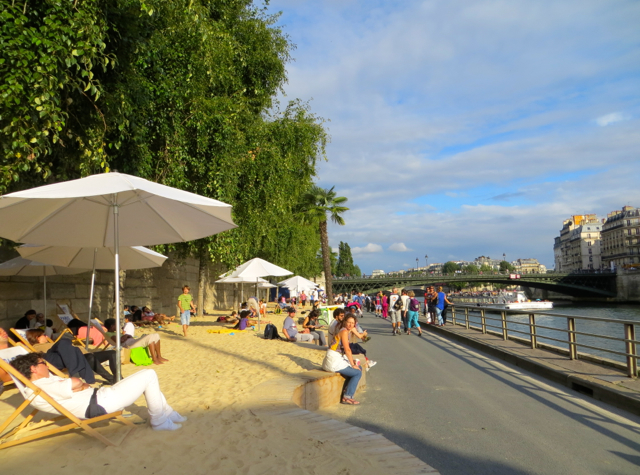 Paris Plages-Paris Beaches-Late Afternoon Sun