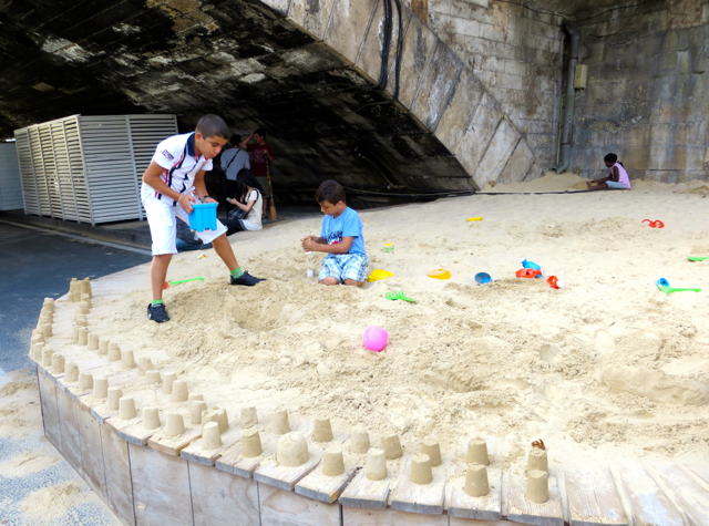 Paris Plages-Paris Beaches - Sand Castle Building
