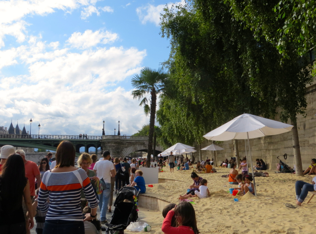 Paris Plages Paris Beaches-Kids Enjoying Sand Fun