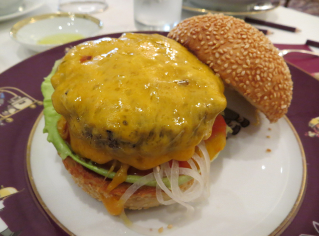 Le Cinq at Four Seasons Paris Restaurant Review - Cheeseburger from Kids Menu